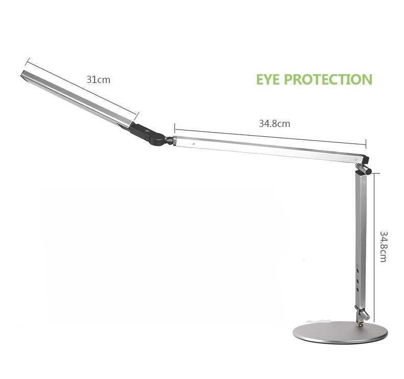 Artpad Energy Saving Modern LED Desk Lamp Dimmer Eye Care Swing Long Arm Business Office Study Desktop Light for Table Luminaire 8