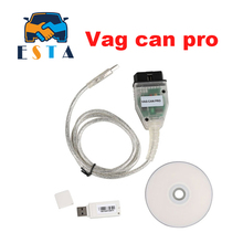 2017 latest VAG CAN PRO CAN BUS+UDS+K-line S.W V 5.5.1 VCP Scanner Auto Diagnostic Cable OBD2 Diagnostic Tool Free Shipping