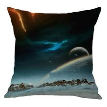 Manufacturers Selling 2017 New Pillow Cover Fantasy Earth Planet Cushion Cover Sofa For Home Accessories 45*45 Cm(China)