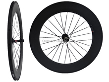 WS-CW08 :  Carbon Matt Cycling Road Bike Clincher Wheelset 88mm 700C Bicycle Wheel Rim Basalt Brake Side