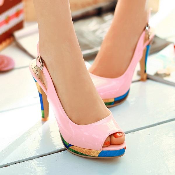2014 New summer Casual dress shoes woman open toe sandals thin heels shoes high-heeled sandals high heels sweet Platform Pumps<br><br>Aliexpress