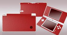 Red Carbon Fiber Vinyl Skin Sticker Protector for Nintendo DSI NDSI skins Stickers