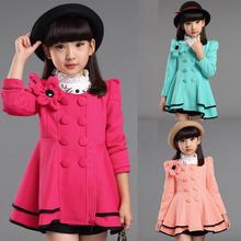 3 Colors Baby Children Jackets for Girl Coat 2018 Fashion Floral Jacket Autumn winter outerwear girls Clothes 5-14 years old(China)