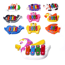 Just-Beat-It 4-note Resonator Bells Animal Design for Kids Educational Toy Music Toy Instrument 4-note Resonator Bells Toy Gift