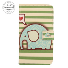 AIYINGE Flip PU Leather Cell Phone Case Credit Card Slot Cover For Motorola Razr i XT890(China)