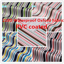 210D Stripe Waterproof Oxford Fabric Upholstery Furniture Durable Dust cover Cloth Canopy Tents Outdoor PVC Coated Fabric