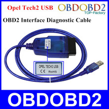 Best Quality OPEL Tech2 USB Cable OBD2 Diagnostice Interface Opel Tech 2 USB With 3 Years Warranty