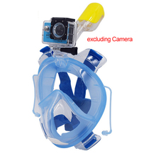 2016 new Full face Snorkeling Equipment Diving Mask with Ear Clips Anti Fog Scuba Snorkel set Swim Training Mount For Gopro