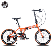 New X-Front Carbon Steel Frame 20 Inch Wheel 14 Speed Folding Bike Outdoor Sport Horns Bar Bicicleta BMX Women Student Bicycle