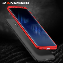Fashion Full Body Protection 360 Degree Phone Case with Soft PET ( Not Tempered Glass) For Samsung S8 S8 Plus PC Back Cover Case(China)