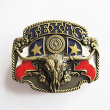 Distribute Belt Buckle Vintage Bronze US Texas Bull Flag Belt Buckle Free Shipping 6pcs Per Lot Mix Style is Ok