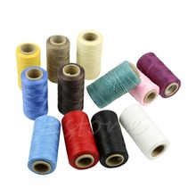 260m Faux Leather Sewing Waxed Thread 1MM For Chisel Awl Upholstery Shoes Luggage Set(China)