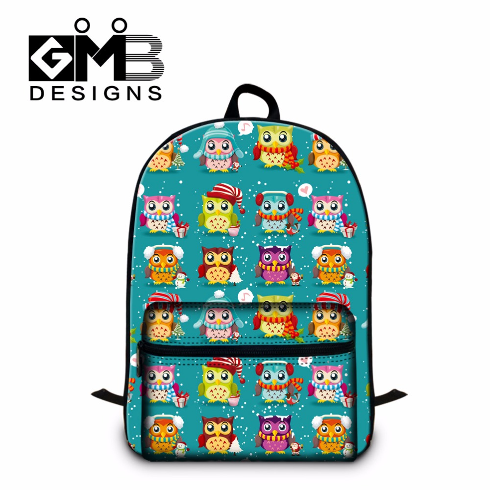 Owl Printed School Backpacks for Girls,Childrens School bookbags,Laptop Back Pack for Elementary Student,cute girly mochila<br>