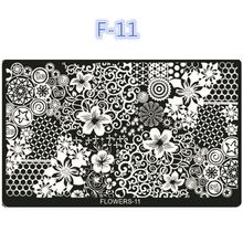 Flower Pattern Nail Art Printing Plate Image Stamping Plates DIY Manicure Template Tools Promotions(China)