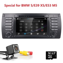 Wince 6.0 Single Din 7inch Car DVD Player GPS Navi for BMW 5 Series E39 E53 X5 M5 Stereo Steering Wheel DVB-T BOX input Camera