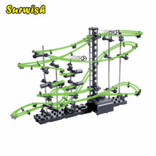 Surwish DIY Educational Toys Spacerail Level 2 Glow In The Dark Marble Roller Coaster with Steel Balls 10000mm 231-2(China)