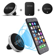 GETIHU Car Phone Holder Magnetic Air Vent Mount Mobile Smartphone Stand Magnet Support Cell Cellphone Telephone Desk Tablet GPS