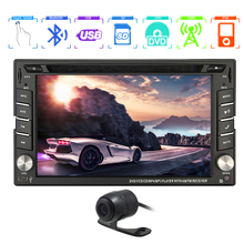 Radio Car DVD Player GPS FM AM In Deck PC Camera Autoradio Music Stereo MP4 BT 6.2 Inch System RDS Auto CD 3D Map