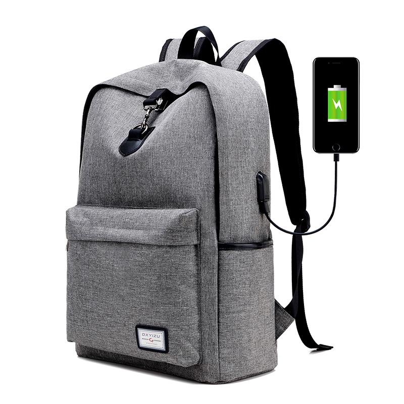 New Men Unisex Designer Backpack USB Line Bags Canvas Solid Preppy Casual Style Shouder Bags Travel School Book Bag for Teenager<br><br>Aliexpress
