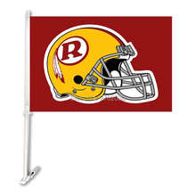 Washington Redskins Double Sided Car Product Car Polyester Flag Banner 30x45cm With 50cm Plastic Flag Pole(China)