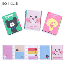 1PC Creative 180 Pages Sticker Mini Animal Sticky Notes 4 Folding Memo Pad Gifts School Stationery Supplies Student Gifts Awards(China)