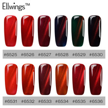 Ellwings 3D Glitter Red Flame Magnet Stick Cat's Eye UV Gel Nail Polish Magical Gel Varnish DIY Magnetic Nail Gel Lacquer(China)