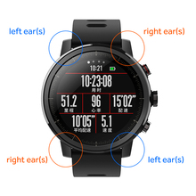 Oreilles pour Xiaomi Huami Amazfit 2 Amazfit Stratos Rythme 2 Montre Smart Watch(China)