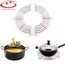 2pcs/lot Stainless Steel Lek Oil Rack With Hook Steamer Pot Holder Semicircular Steam Tray Multifunctional Useful Kitchen Tools
