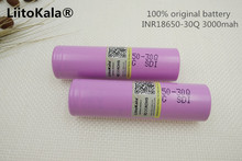 2 UNIDS Liitokala 100% Original samsung INR18650 30Q Battery Rechargeable 3000 mAh Li-Ion E-cigarette use - Lan Ziyan store