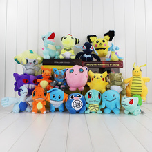 20Pcs/Lot Anime Cartoon Dragonite Jirachi Gengar Substitute Squirtle Charmander Bulbasaur Jigglypuff Charizaard Mudkip Plush Toy