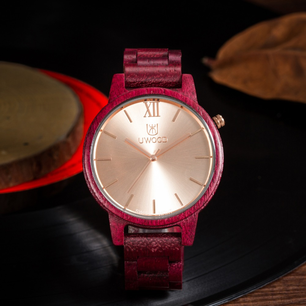 UWOOD Dress Men Wooden Watch Wood Bangle Fashion Quartz Watches Calendar Display Mens Wristwatches Relogio Masculino Best Gift<br>