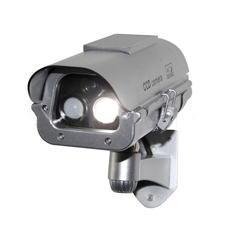 Solar Simulation Camera Dummy Fake Surveillance CCTV Security with flashlight And Motion Detector FC<br>