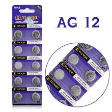 10x TianQiu AG12/386A LR43 301/386 L1142 AG12 1.55V Alkaline Button Cell Coin Battery Wholesale Factory Price High Capacity