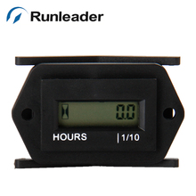 (5pcs) Runleader  Digital Hour Meter DC Powered Hour Running Meter For Diesel Engine Generator Snowmobile Lawn Mower