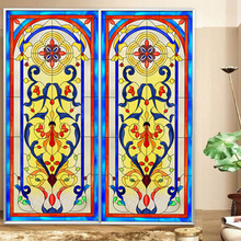 Static membrane style church glass film custom wardrobe furniture renovation moisture-proof stickers opaque(China)