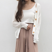 Pengpious summer loose knitted garment female plus size single breasted batwing sleeve cardigans women Korean style sweater coat(China)