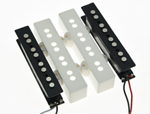 KAISH White J Bass Neck Bridge Pickup Bass Pickups Set for 4 String Jazz Bass Guitar(China)