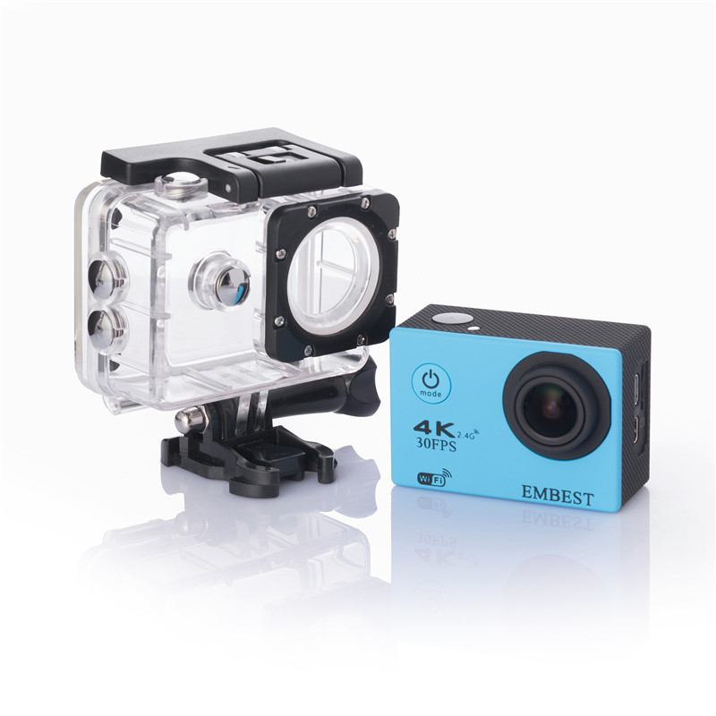 EMBEST 4K WIFI Sports Action Camera With Remote Control Ultra HD Waterproof Underwater 30M Camcorder 16MP 170 Degree Wide Angle 8