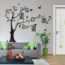 JA 31   Hot Selling Fast Shipping  180*250cm 3D DIY Photo Tree PVC Wall Decals Adhesive Wall Stickers Mural Art Ho 421