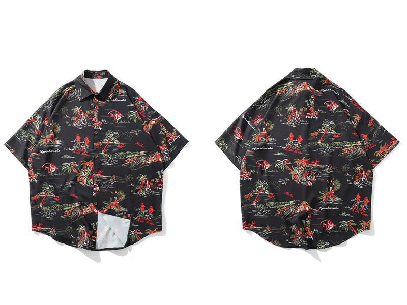Palm Tree Hawaiian Beach Shirts 1