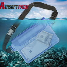 Durable Waterproof Waist Bag  With Strap Outdoor Drifting Swimming Shoulder Dry Bag Free Shipping