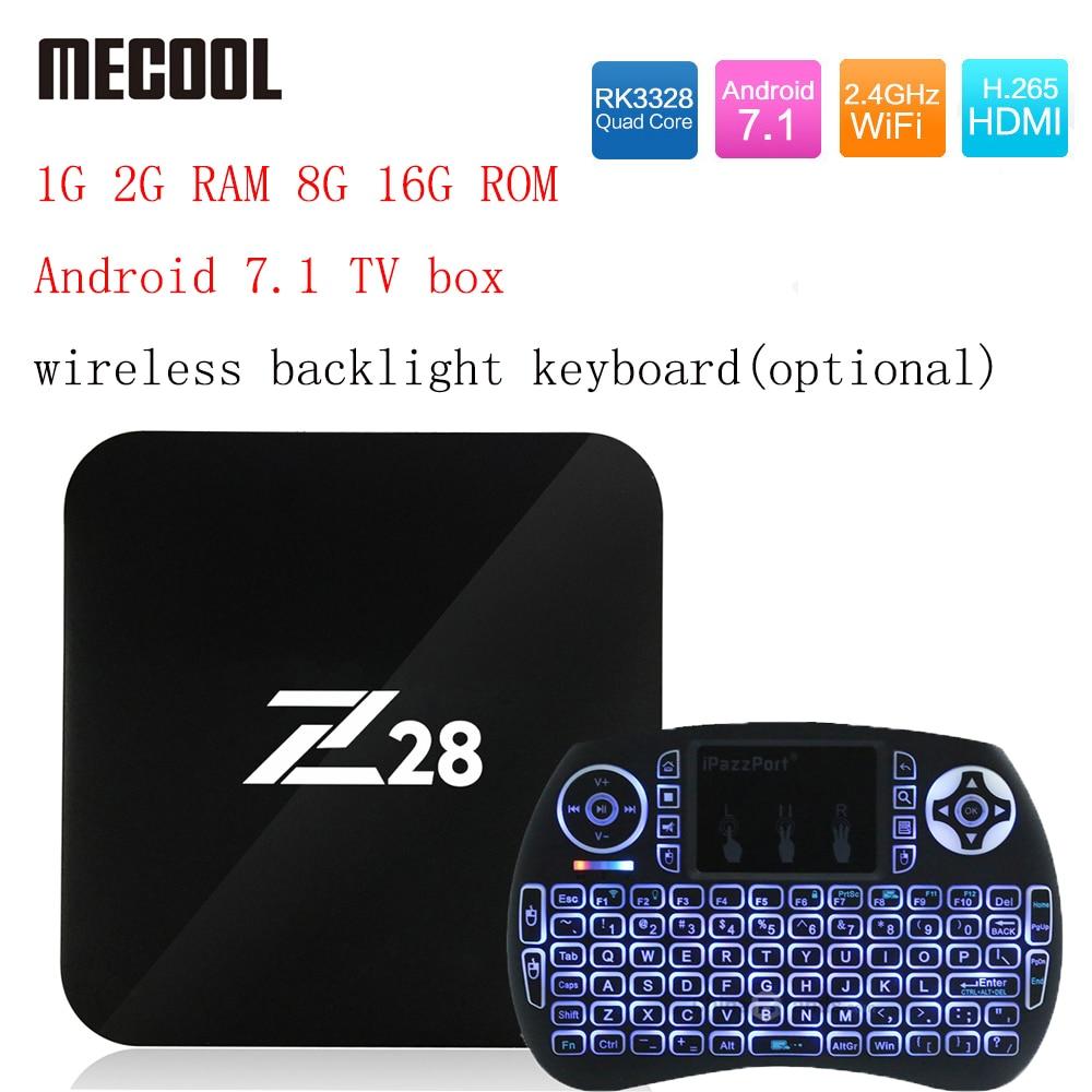 Z28 Android 7.1 TV box  1G 2G RAM 8G 16G ROM RK3328 Quad core 2.4GHz WiFi H.265 HDMI Smart Set Top Box Media Player PK X96 A95X<br>