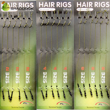 18pcs Carp Fishing Hair Rigs Braided Thread 8245 Curve Shank Hook Swivel Boilies Carp Rigs Carp Fishing Accessories Tackles(China)