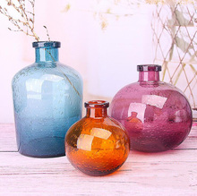 Bubble glass vases Hand-blown flower vases bedroom table vase Simple Home Decoration(China)