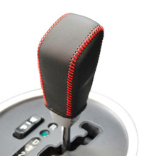 Gear Leather Covers for Ssangyong Actyon Automatic Shift Genuine Leather Hand-stitched DIY Hand-stitched Black