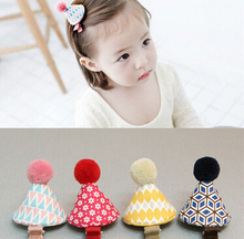 Free Shipping Children cute mini hats Hair Pin baby girl's lovely party BB Clip Hairpins Hair Side Clips