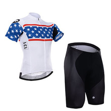 Can mix size 2015 brand name cycling wear/white short sleeve ciclismo jersey and short set/bike clothing/sports wear(China)