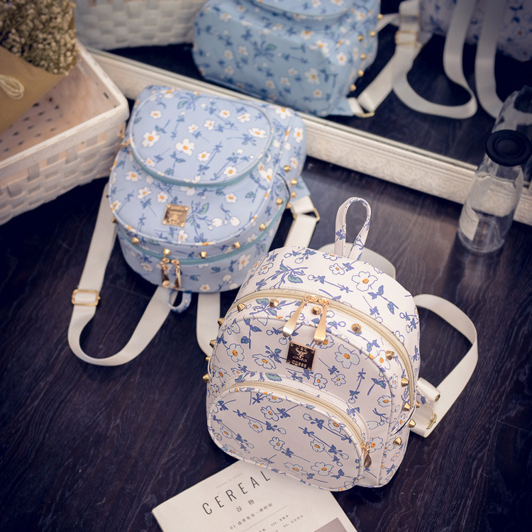 2017 New Spring Korean Best Womens Backpacks For Travel Leisure School Shoulder Bag Small Backpack Ladies White Blue Pink<br><br>Aliexpress