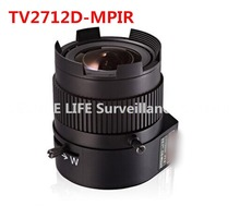 Hik TV2712D-MPIR 2.7-12mm Vari-focal Auto Iris DC Drive 3MP IR Aspherical Lens(China)