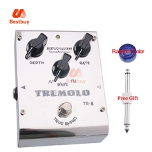 Biyang ToneFancier TR-8 Analog Tremolo Guitar Bass Effect Pedal 2 Wave Form Adjust True Bypass